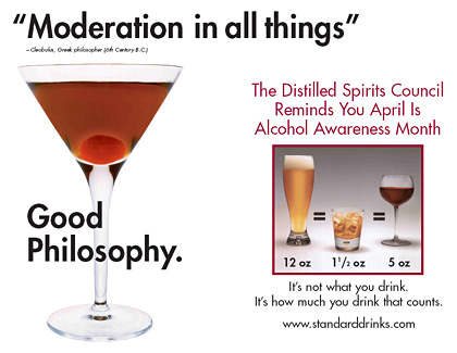 alcohol in moderation